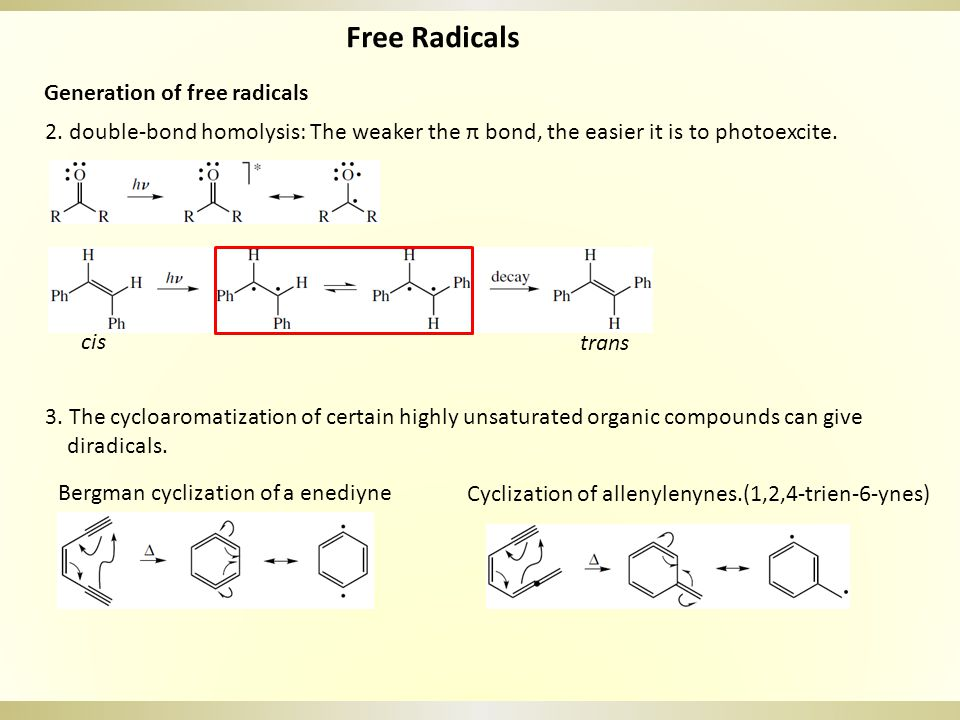 Nonchain Free Radical Reactions: Reductions with Metals c.