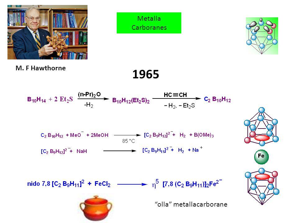 Metalla Carboranes olla metallacarborane M. F Hawthorne 1965