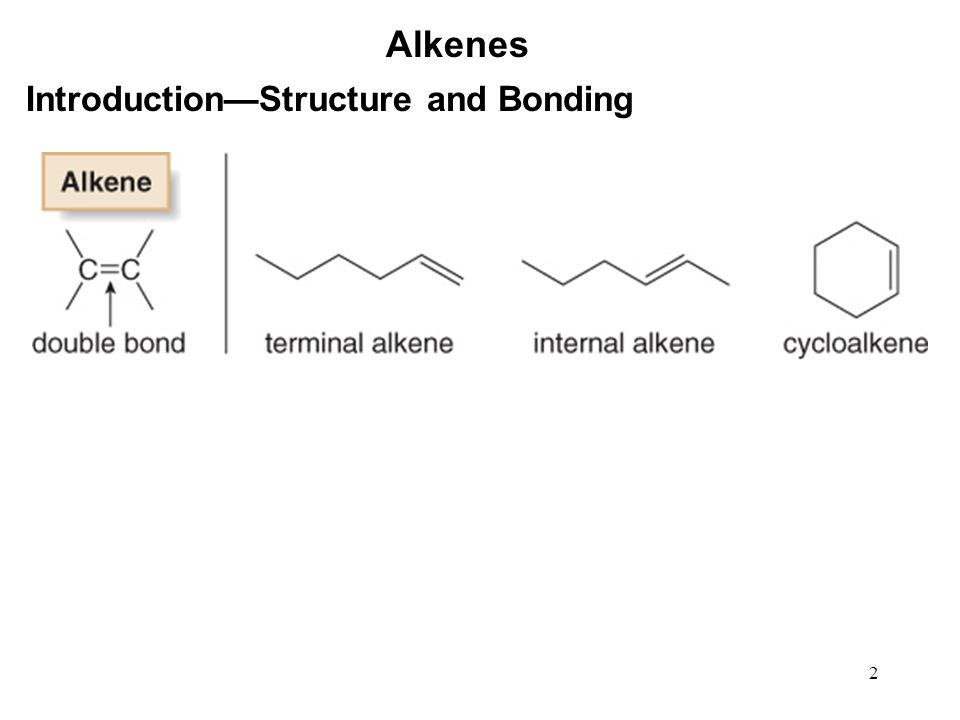 3 Alkenes Strength of the  Bonding Restricted rotation: Stereoisomerism: Stability: