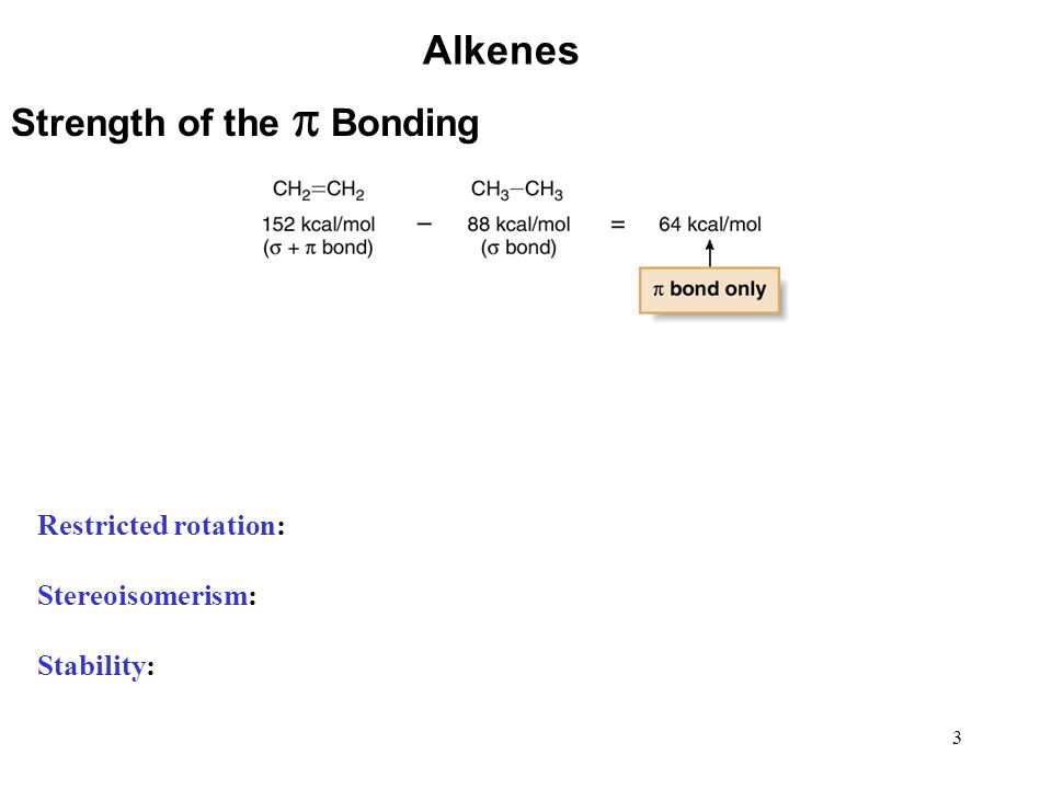 54 Alkenes Hydroboration—Oxidation The proposed mechanism involves concerted addition of H and BH 2 from the same side of the planar double bond: