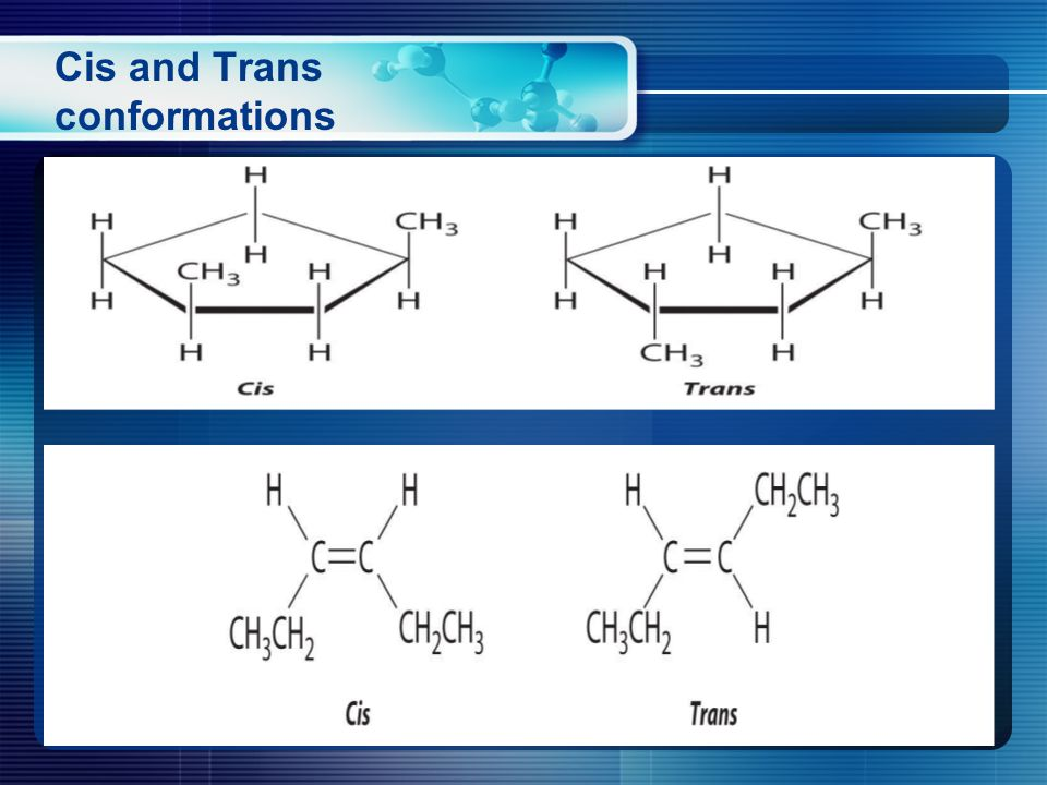 Cis and Trans conformations