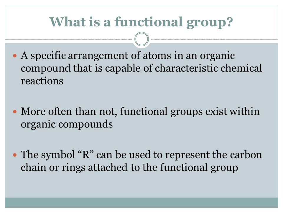 What is a functional group.