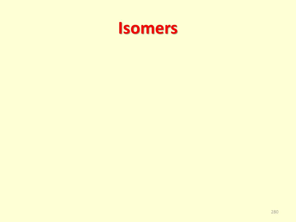 Isomers 280