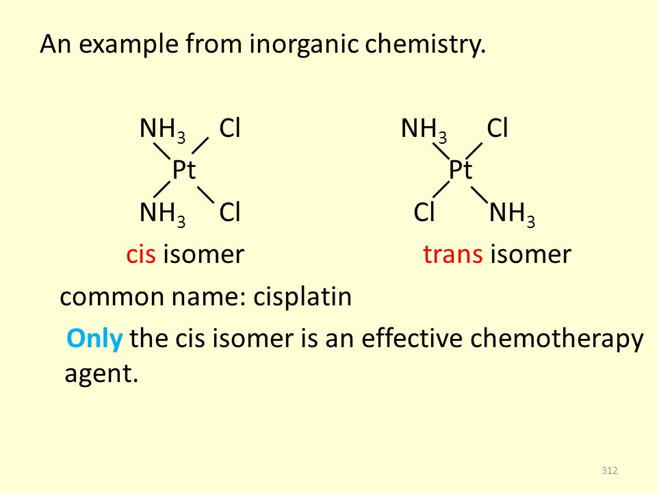 An example from inorganic chemistry.