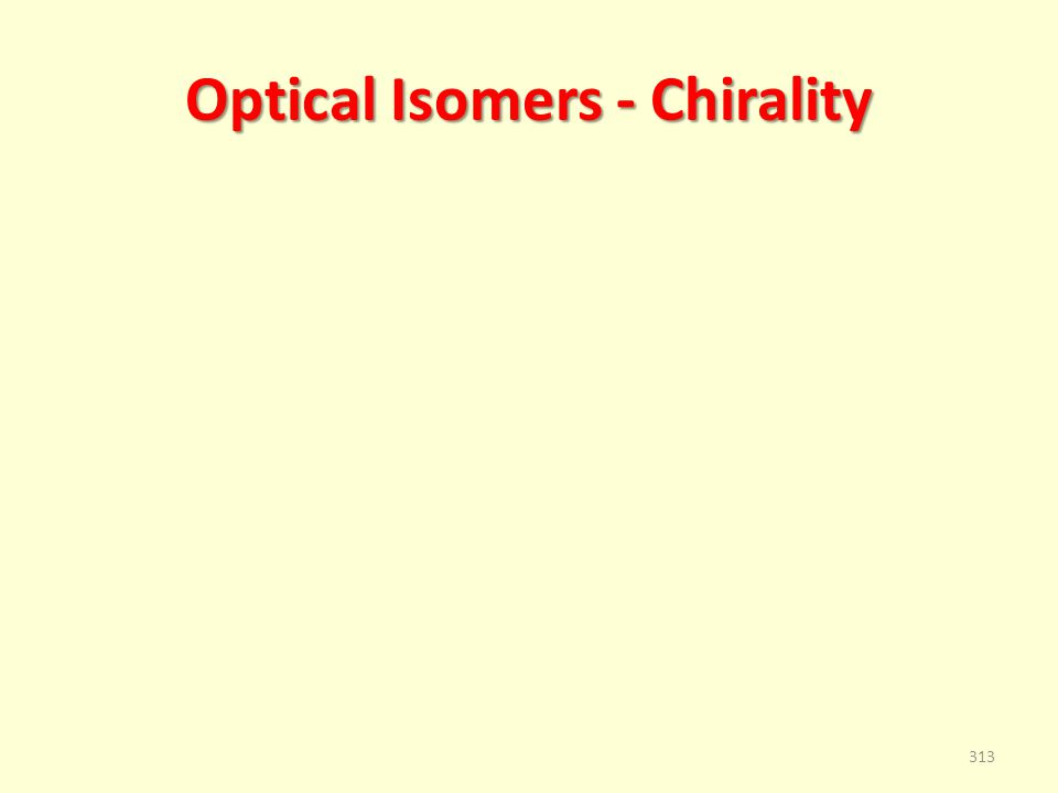 Optical Isomers - Chirality 313