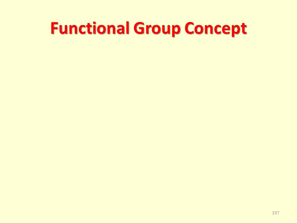 Functional Group Concept 197