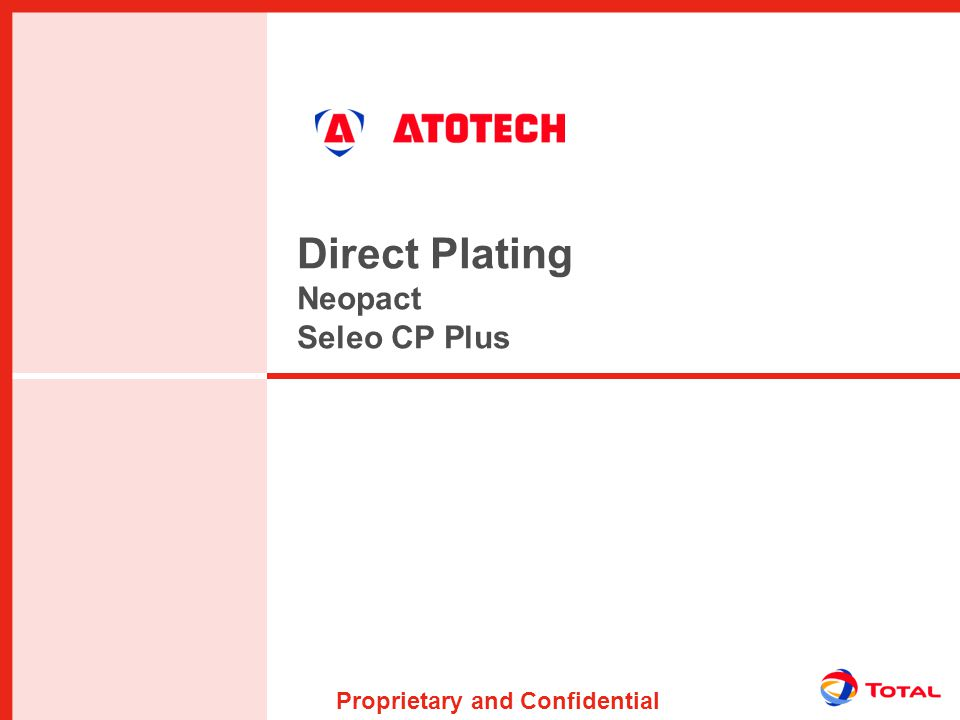 Proprietary and Confidential Direct Plating Neopact Seleo CP Plus