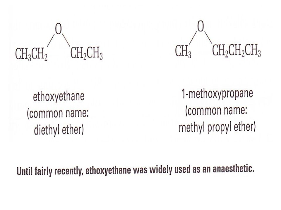 How to name an Ether Choose the longest alkyl group as the parent alkane.