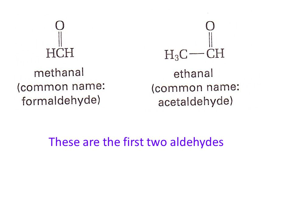 Aldehydes and Ketones both have the carbonyl functional group An aldehyde is an organic compound that has a double-bonded oxygen on the last carbon of the carbon chain The general formula for an aldehyde is Aldehydes and Ketones