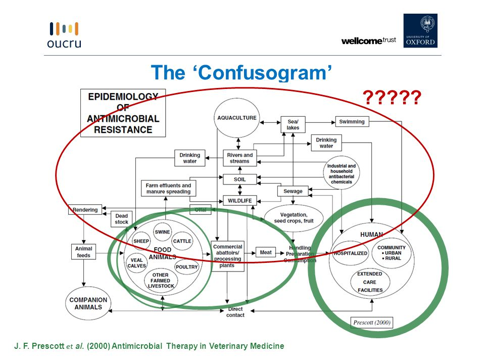 The 'Confusogram' J. F. Prescott et al. (2000) Antimicrobial Therapy in Veterinary Medicine ?????