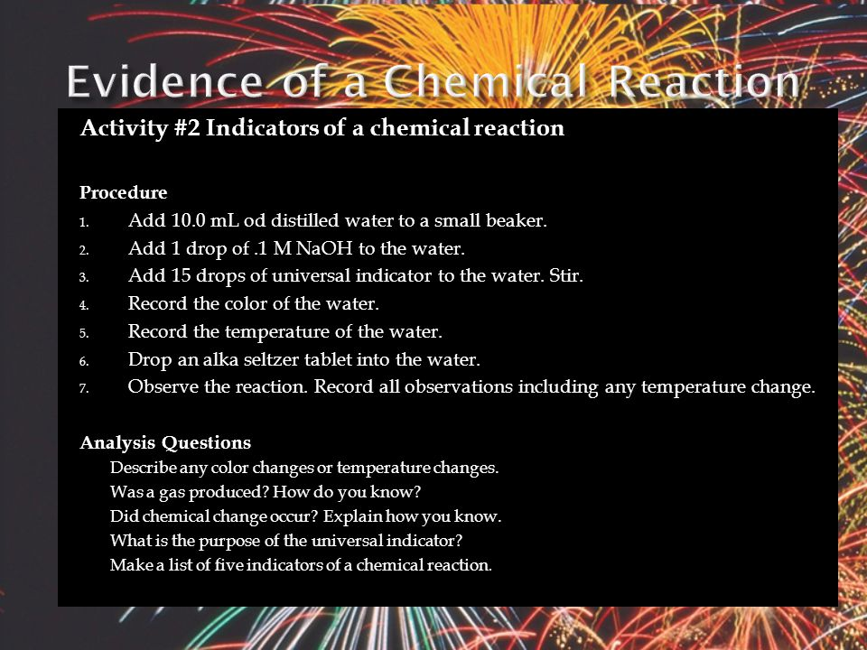  A reaction occurs when a pair of ions comes together to produce a substance that removes ions from the solution.