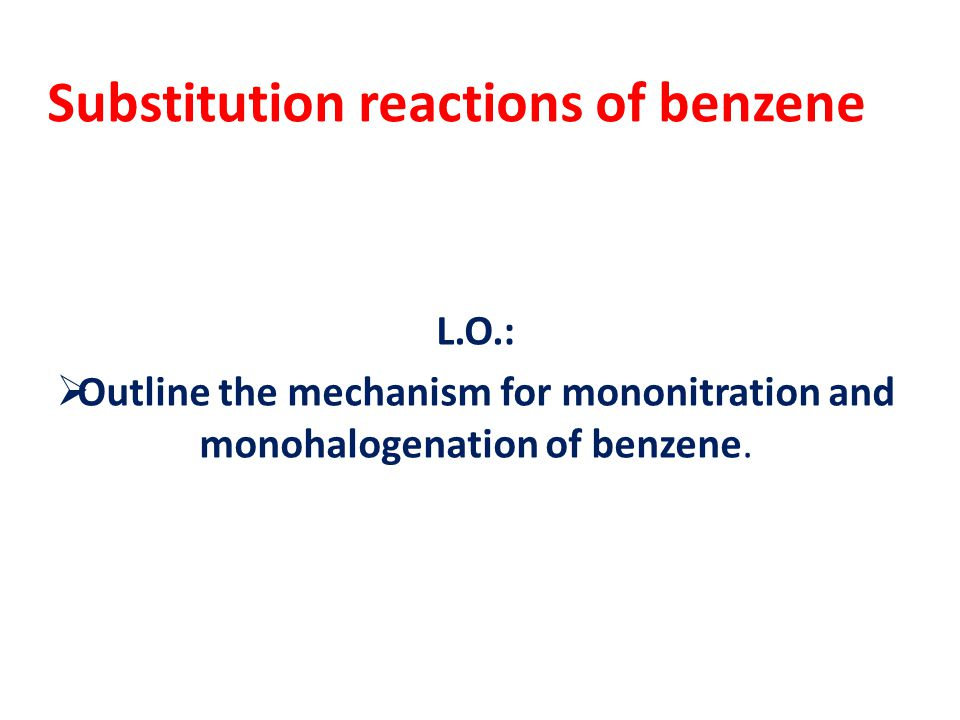 NITRATION Equation (name product) Conditions Mechanism