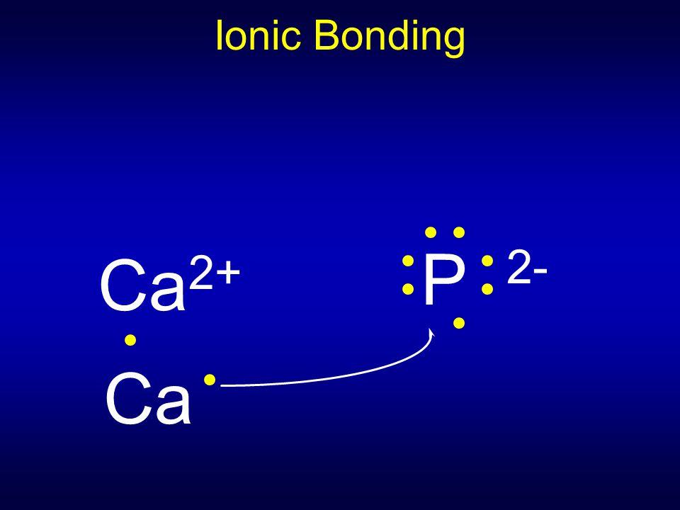 Ionic Bonding Ca 2+ Ca