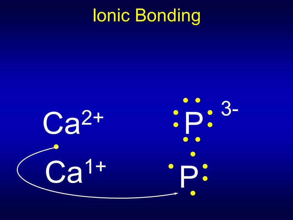 Ionic Bonding Ca 2+ P 3- Ca 1+ P