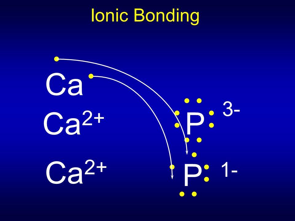 Ionic Bonding Ca 2+ P 3- Ca 2+ Ca P 1-
