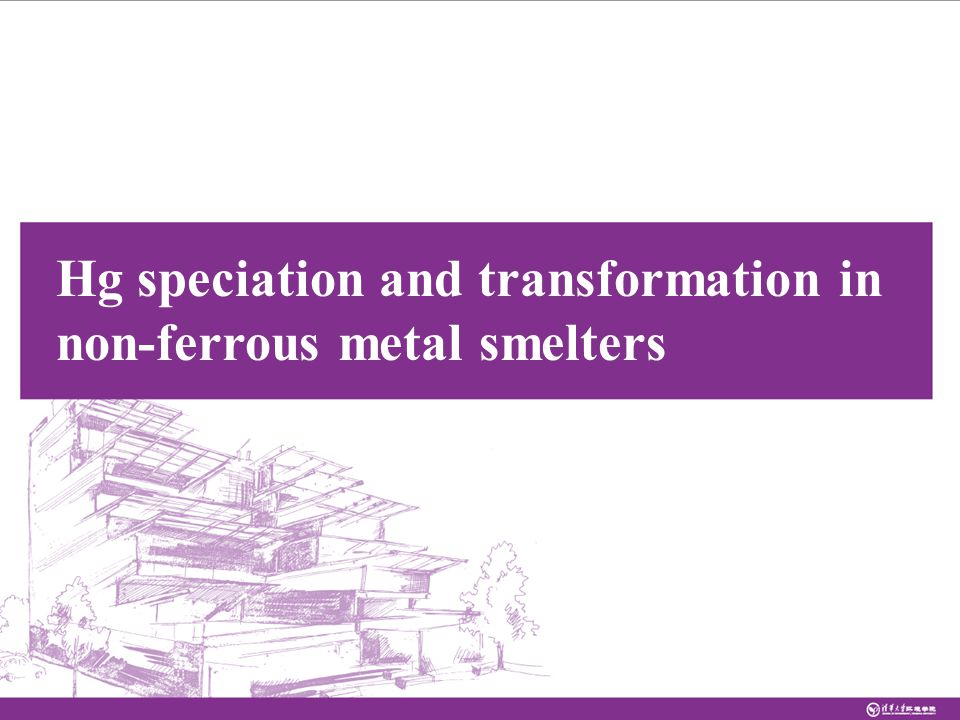 Hg speciation and transformation in non-ferrous metal smelters