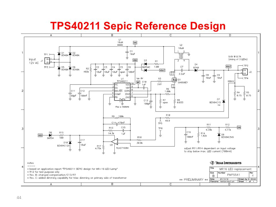 TPS40211 Sepic Reference Design 44