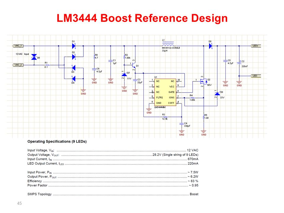 LM3444 Boost Reference Design 45