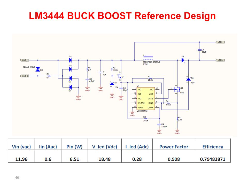 LM3444 BUCK BOOST Reference Design 46