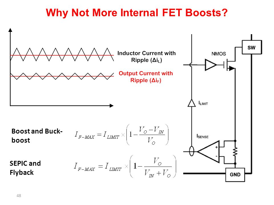 Why Not More Internal FET Boosts? 48 Boost and Buck- boost SEPIC and Flyback