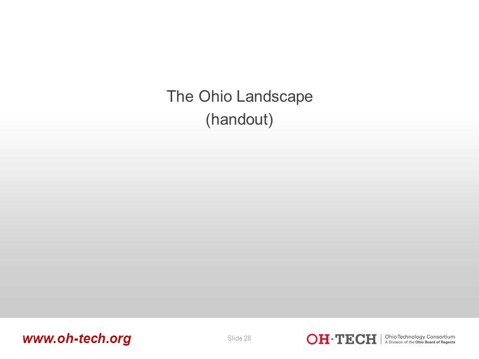 Slide 28 www.oh-tech.org The Ohio Landscape (handout)