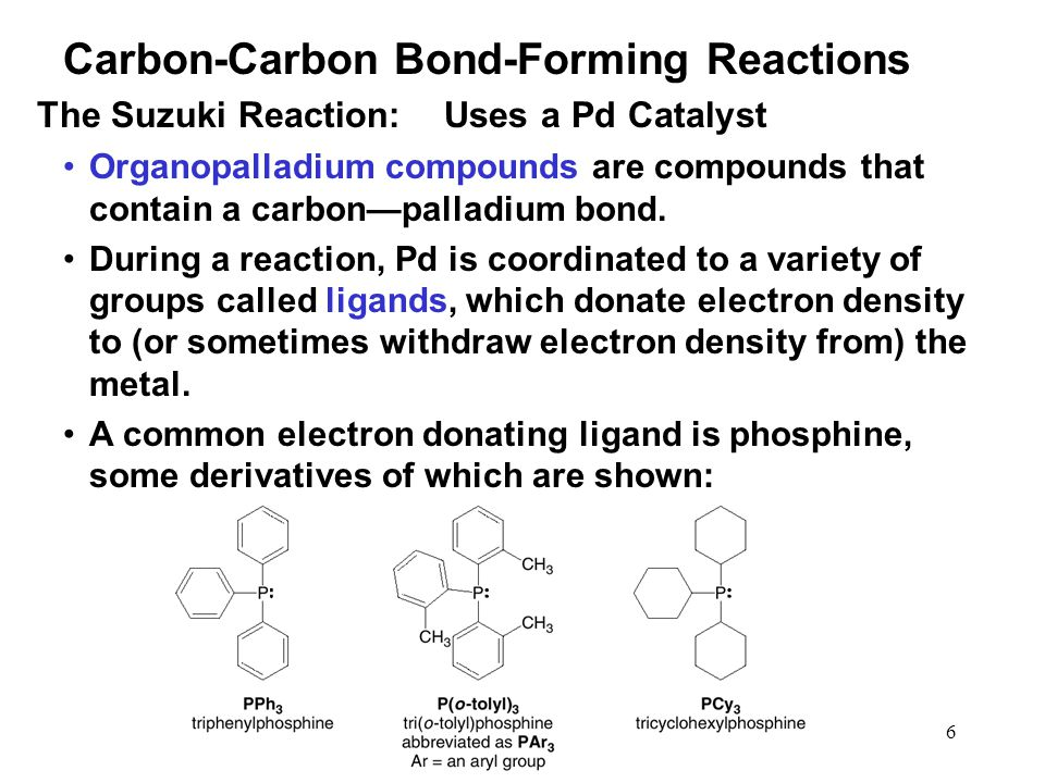7 A general ligand bonded to a metal is often designated as L. Pd bonded to four ligands is denoted as PdL 4.