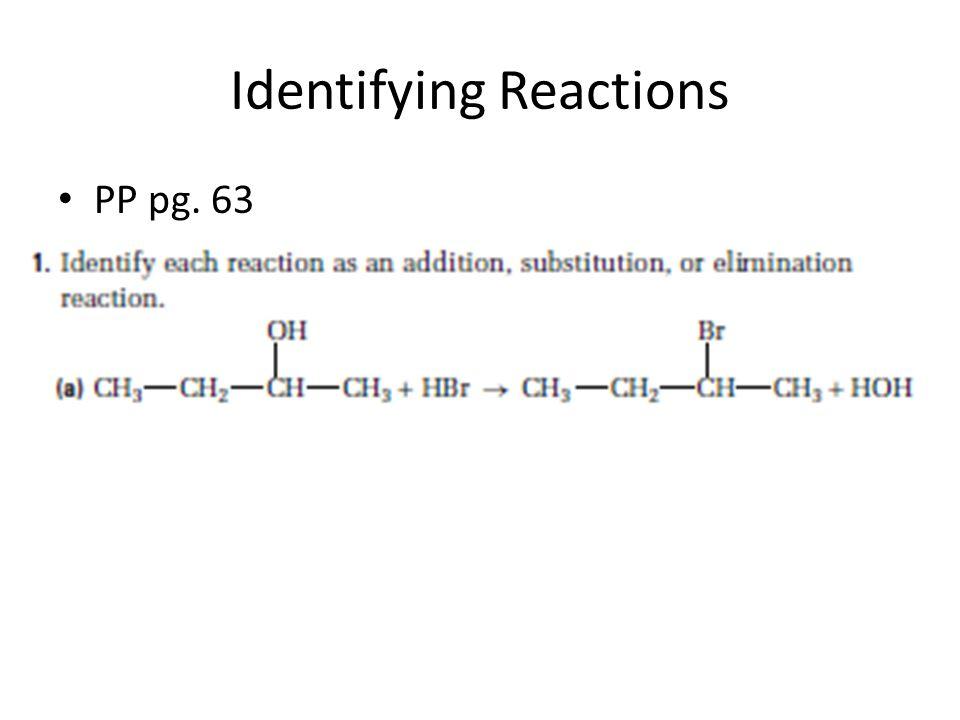 Identifying Reactions PP pg. 63