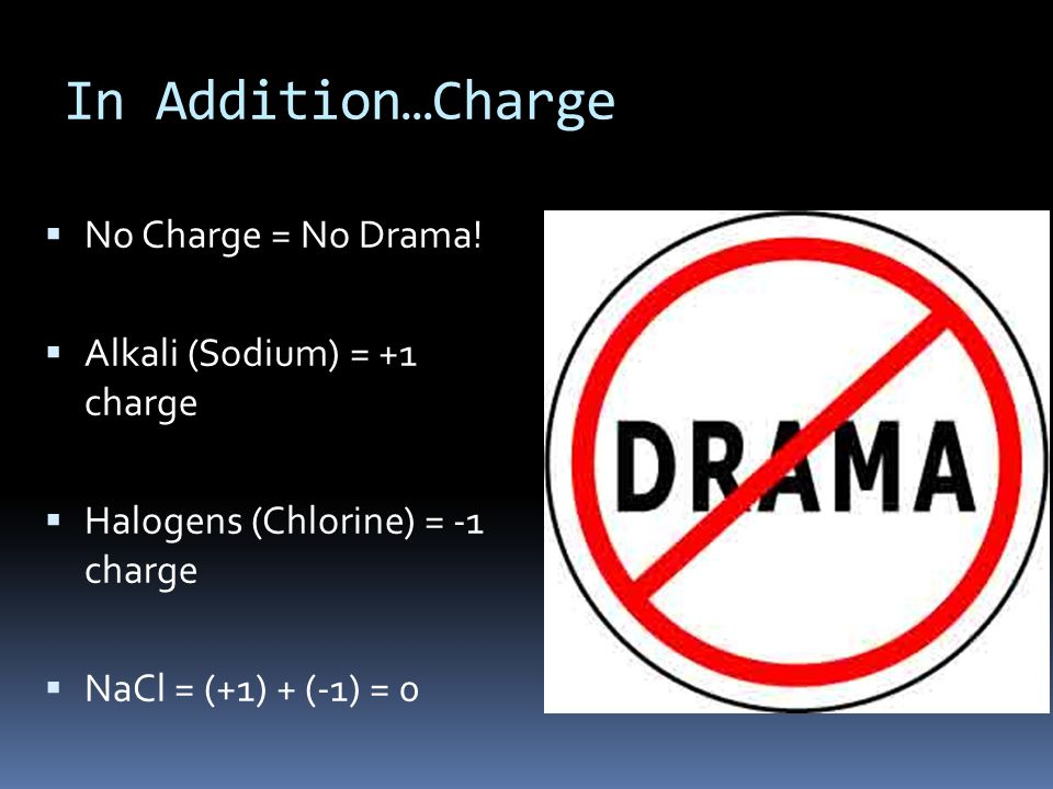 In Addition…Charge  No Charge = No Drama.