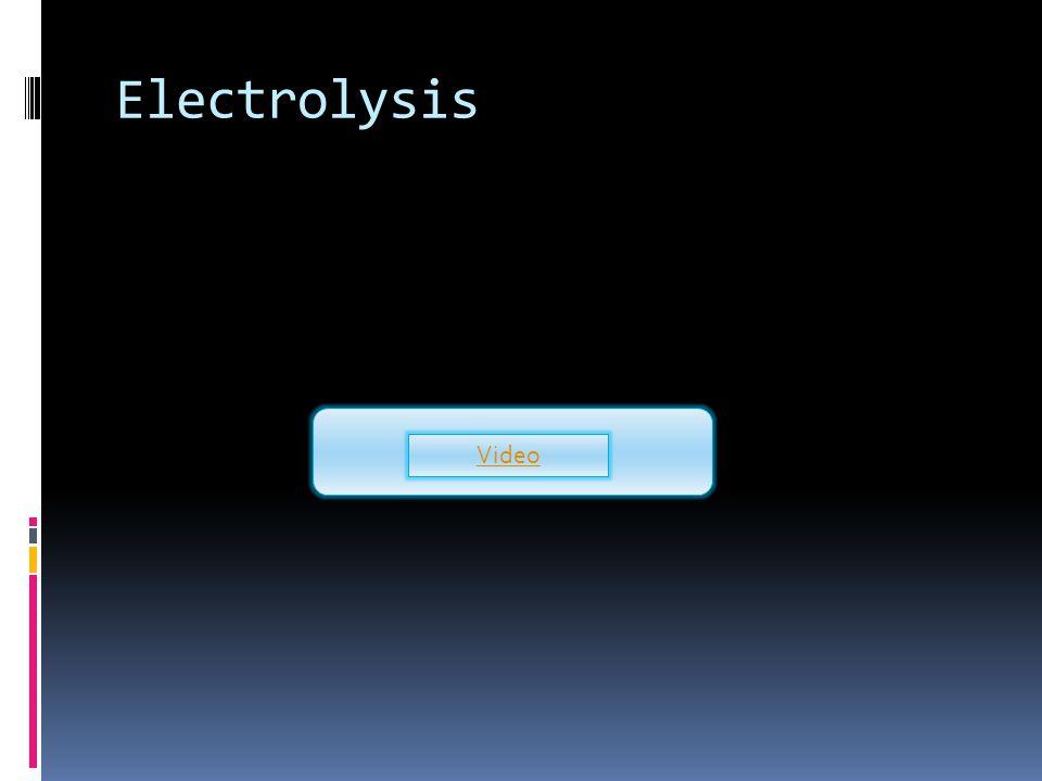 Electrolysis Video