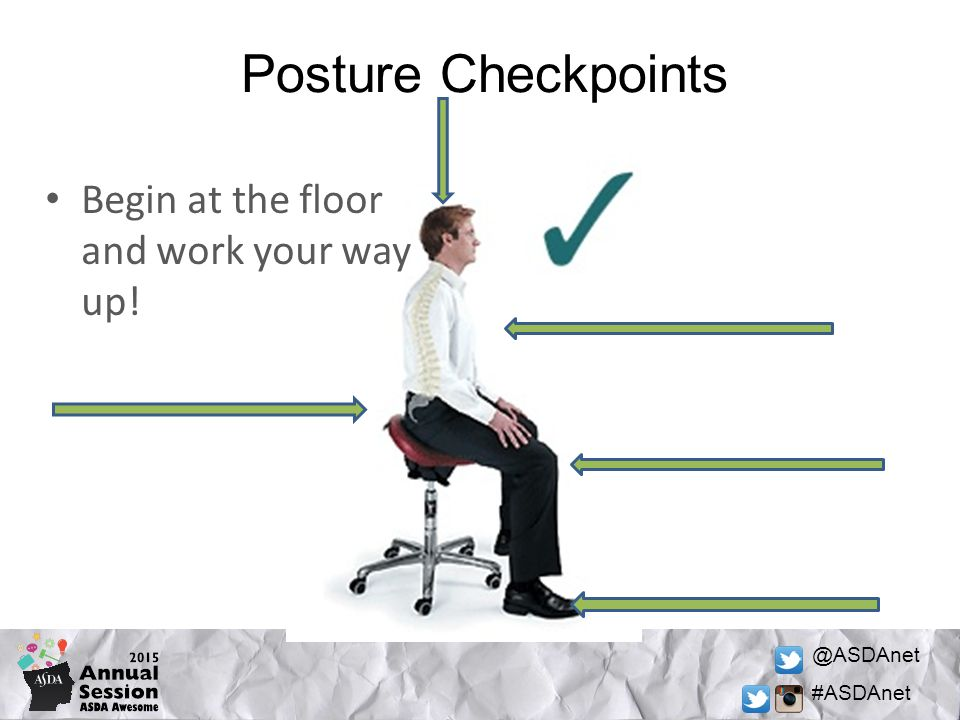 @ASDAnet #ASDAnet Posture Checkpoints Begin at the floor and work your way up!