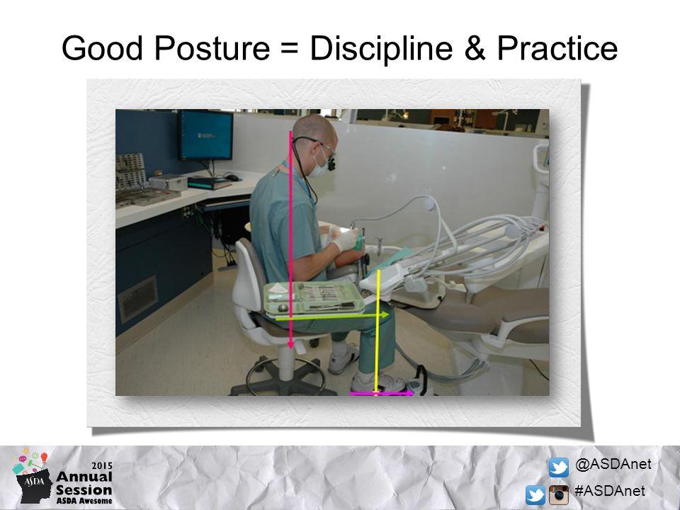 @ASDAnet #ASDAnet Good Posture = Discipline & Practice