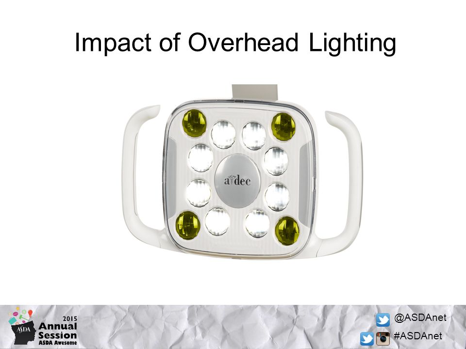 @ASDAnet #ASDAnet Impact of Overhead Lighting
