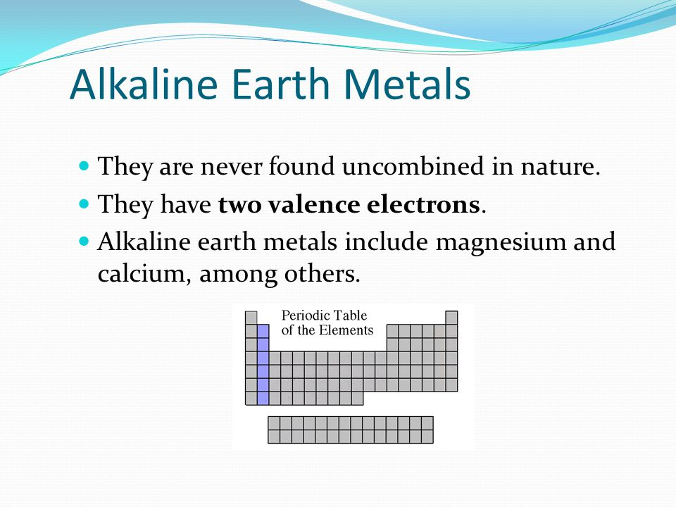 Alkali Metals The alkali family is found in the first column of the periodic table. Atoms of the alkali metals have a single electron in their outermo
