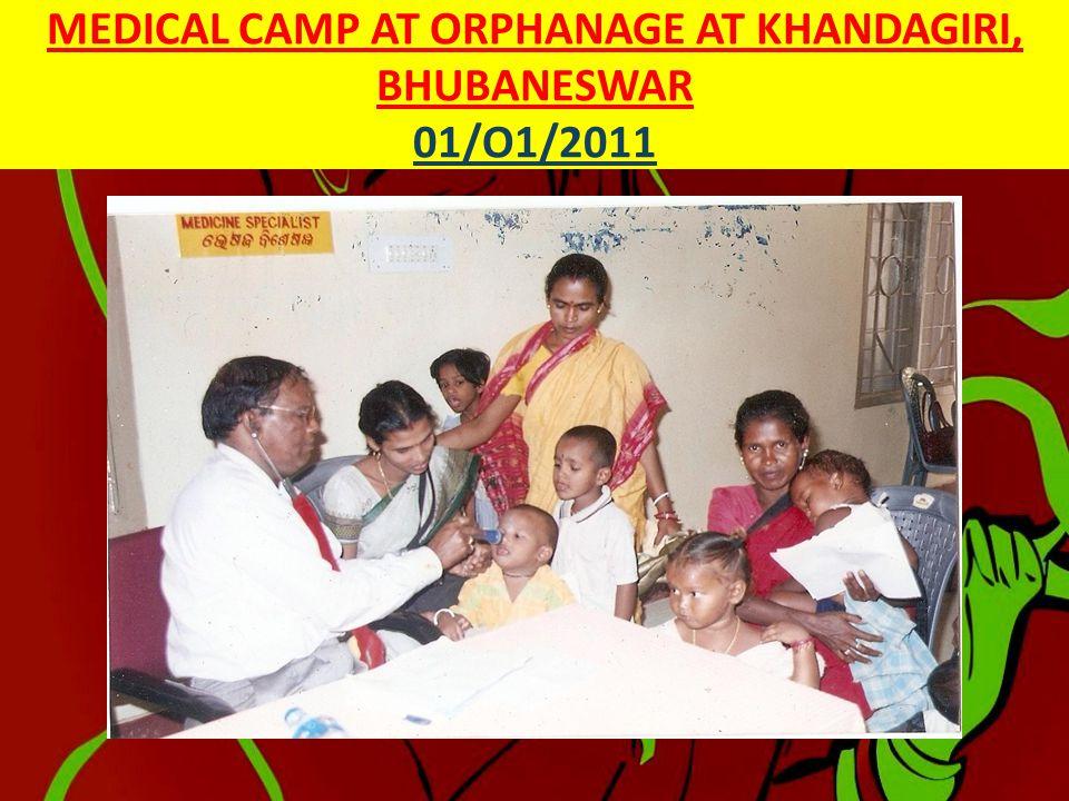MEDICAL CAMPS ORGANISED BY SRI GOURANGA SEVA SADAN FROM JANUARY 2011– JUNE 2011