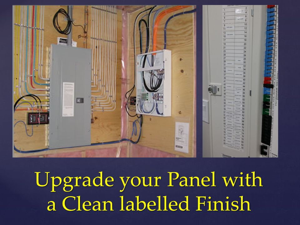 Upgrade your Panel with a Clean labelled Finish