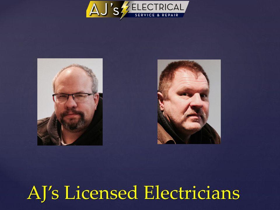 AJ's Licensed Electricians