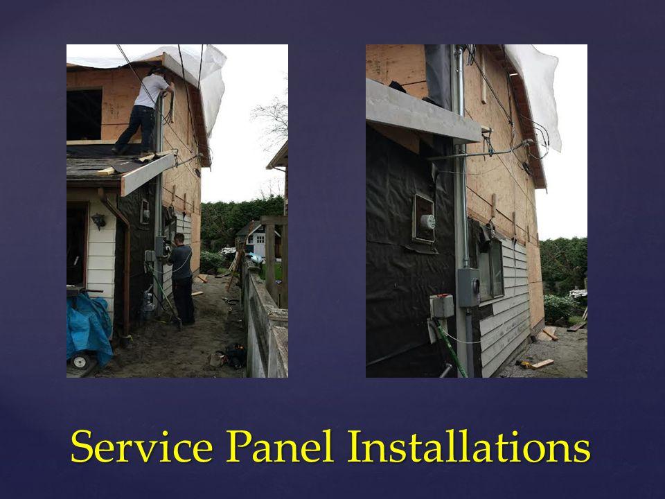 Service Panel Installations