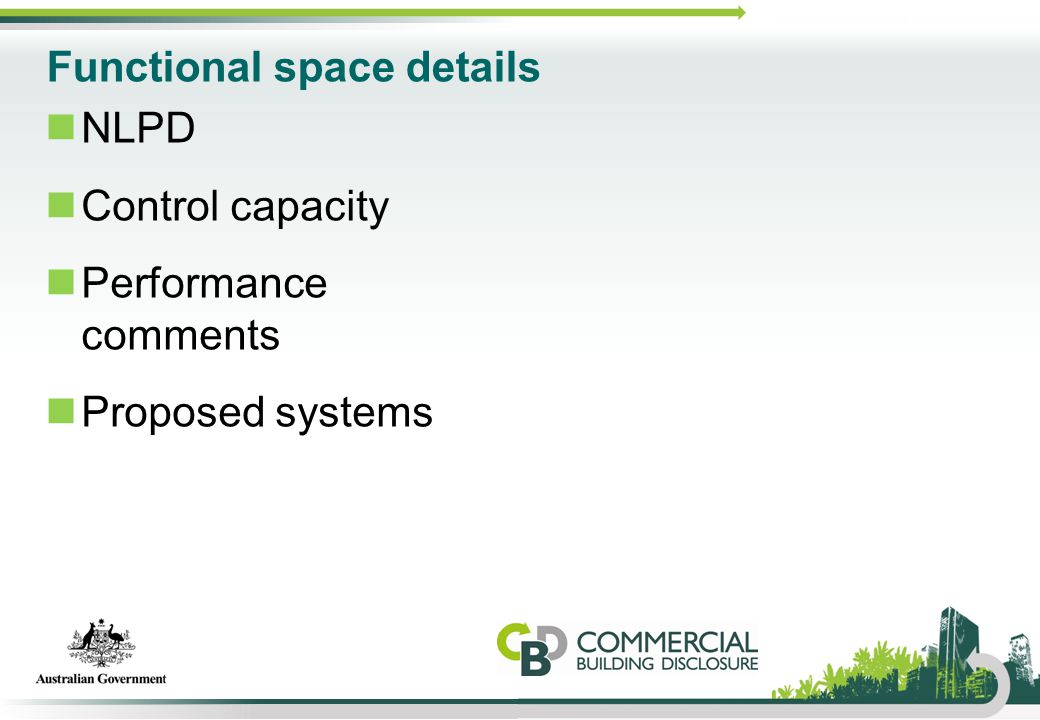 Functional space details NLPD Control capacity Performance comments Proposed systems