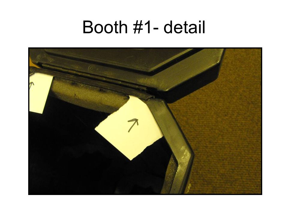 Booth #1- detail