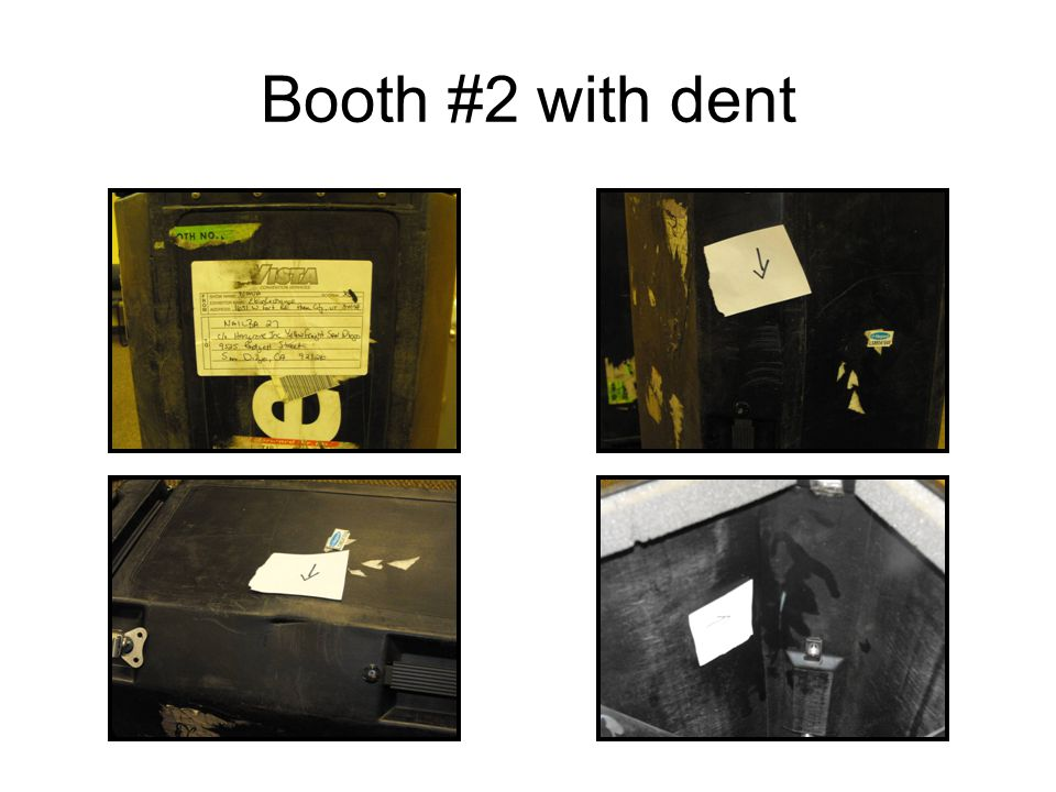 Booth #2 with dent