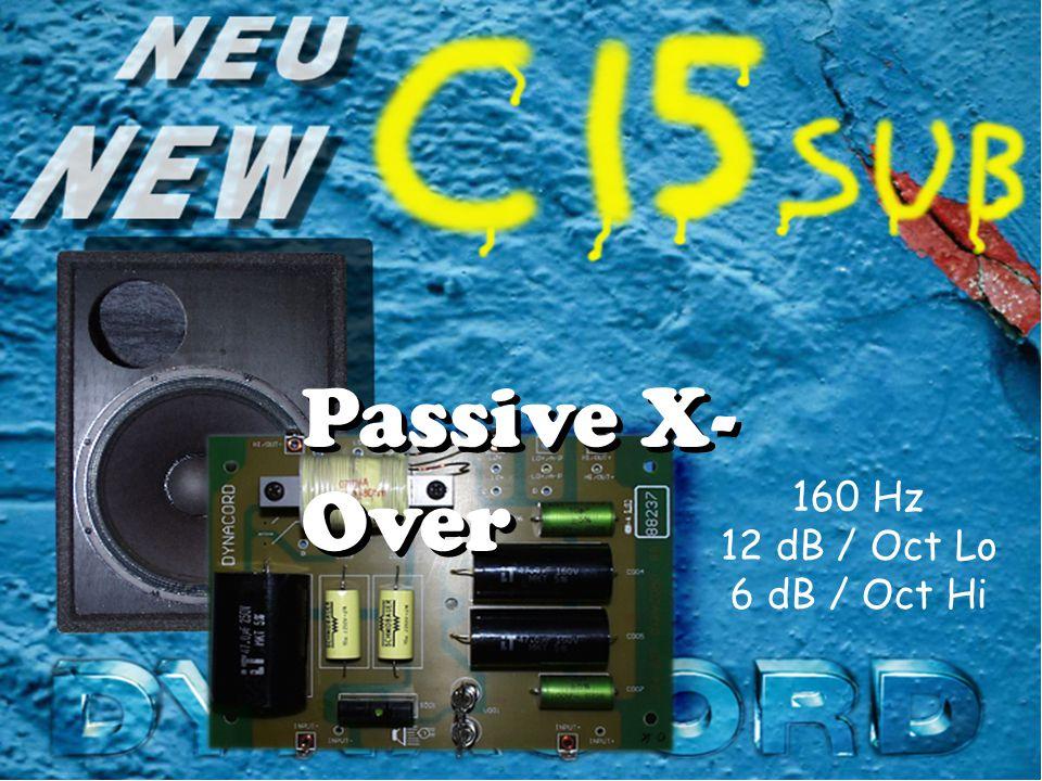 Passive X- Over 160 Hz 12 dB / Oct Lo 6 dB / Oct Hi