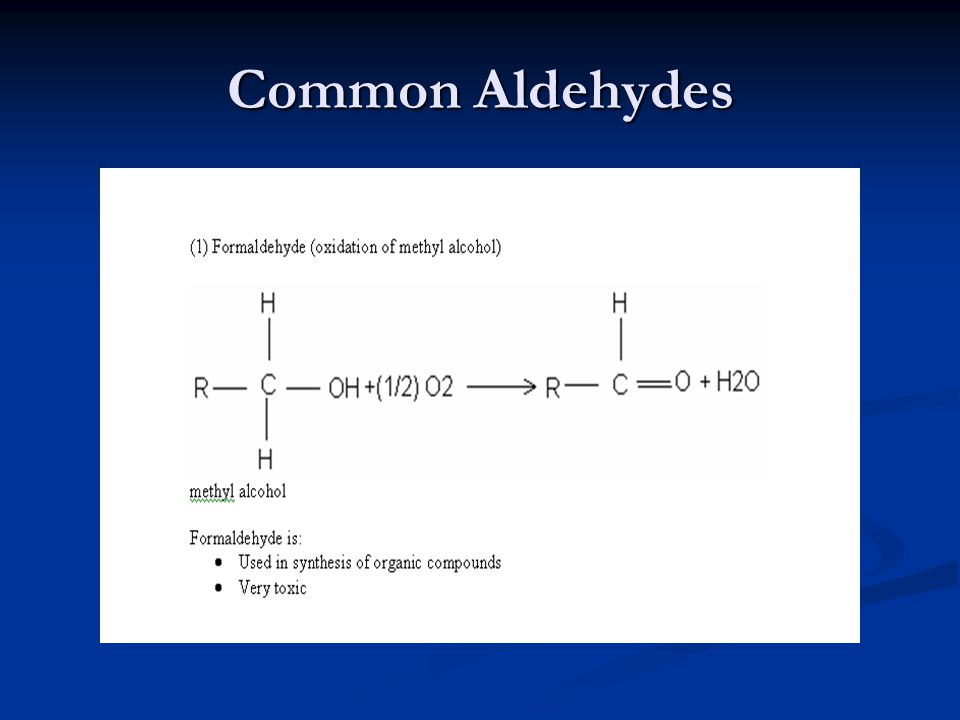Common Aldehydes