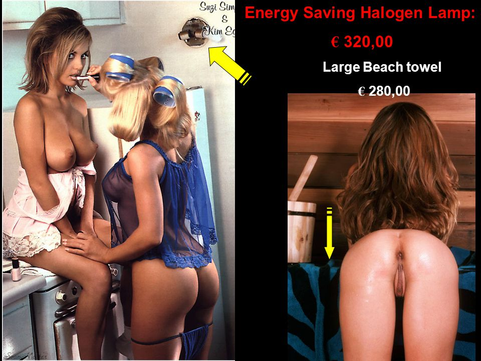 Large Beach towel € 280,00 Energy Saving Halogen Lamp: € 320,00