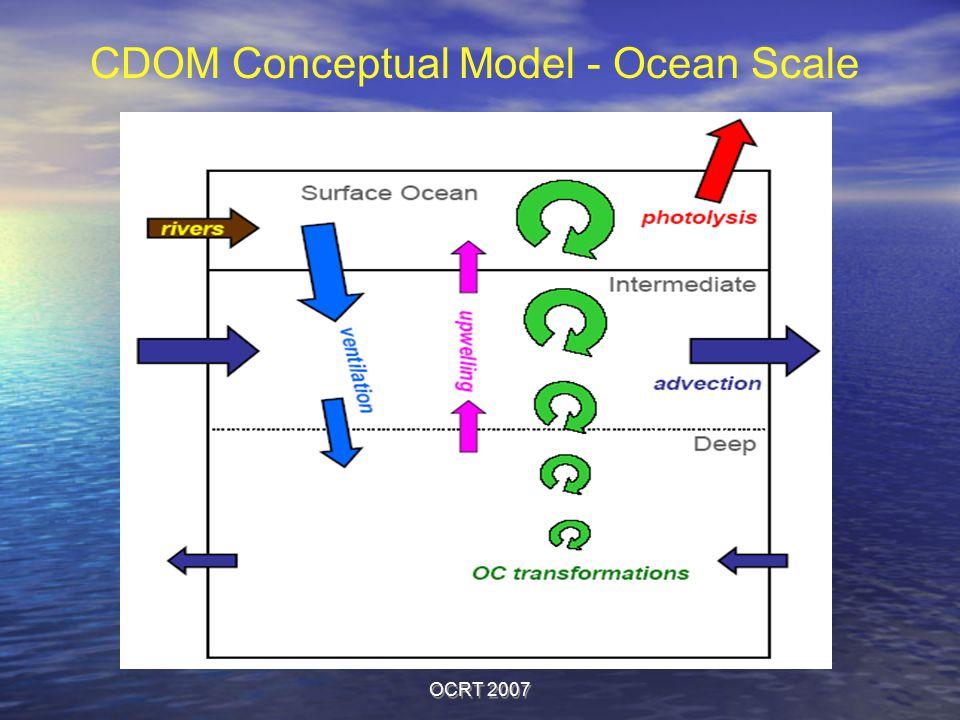 OCRT 2007 CDOM Conceptual Model - Ocean Scale