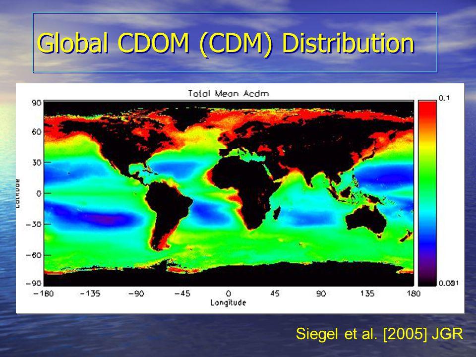 Global CDOM (CDM) Distribution Siegel et al. [2005] JGR