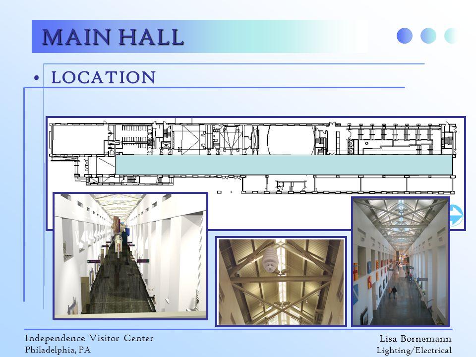 Lisa Bornemann Lighting/Electrical Independence Visitor Center Philadelphia, PA LOCATION MAIN HALL