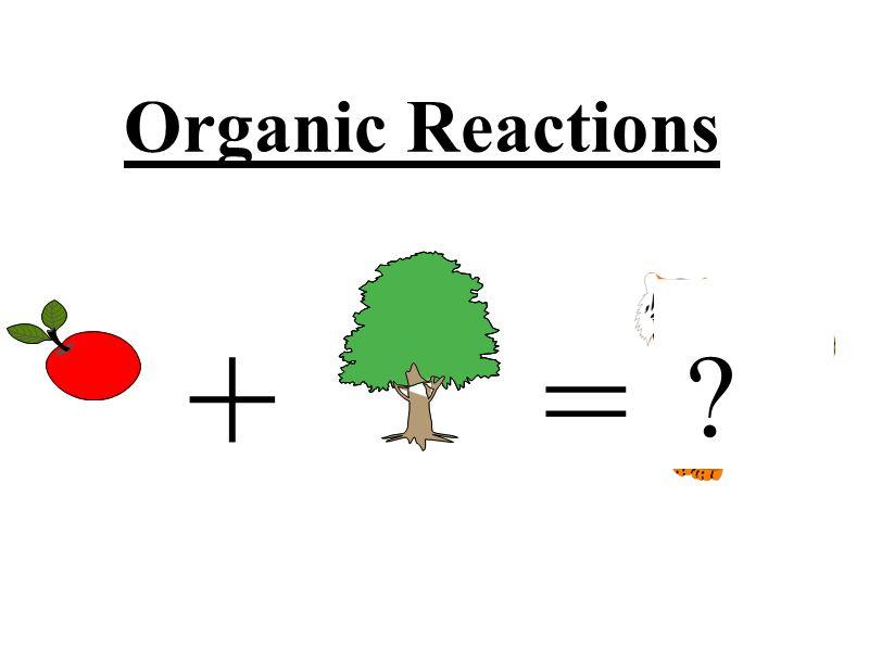 Organic Reactions + = ?