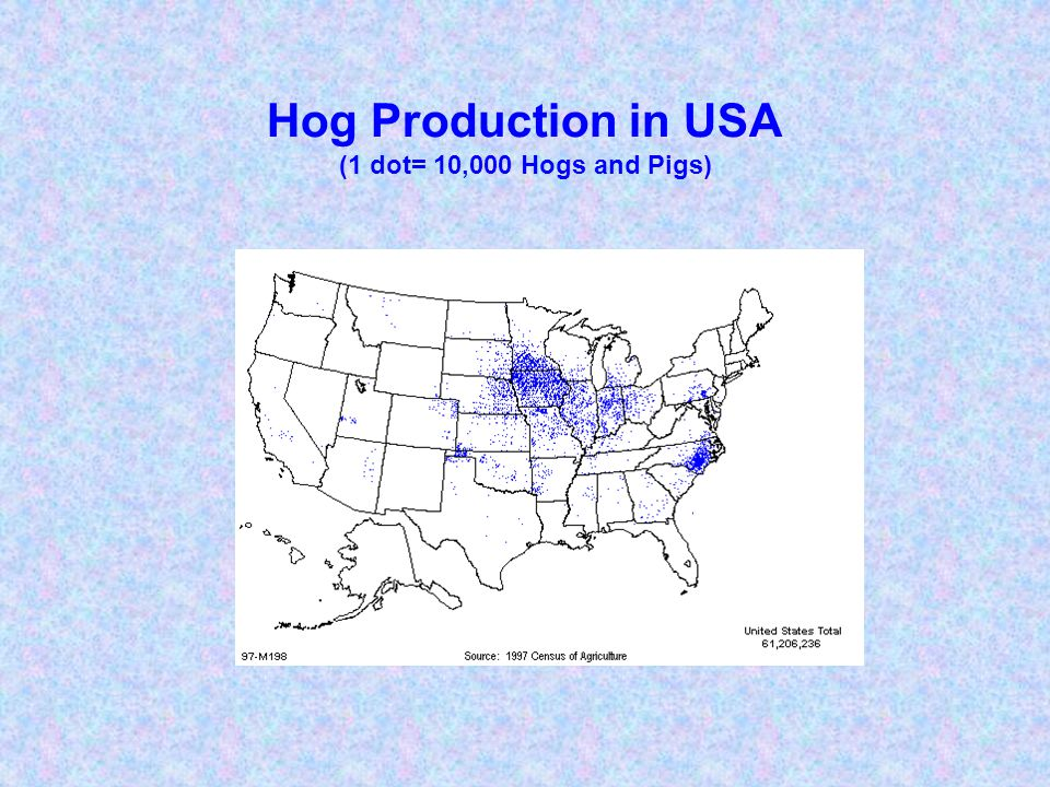 Meat Consumption in North America (kg/capita/year) Hogs and Pigs