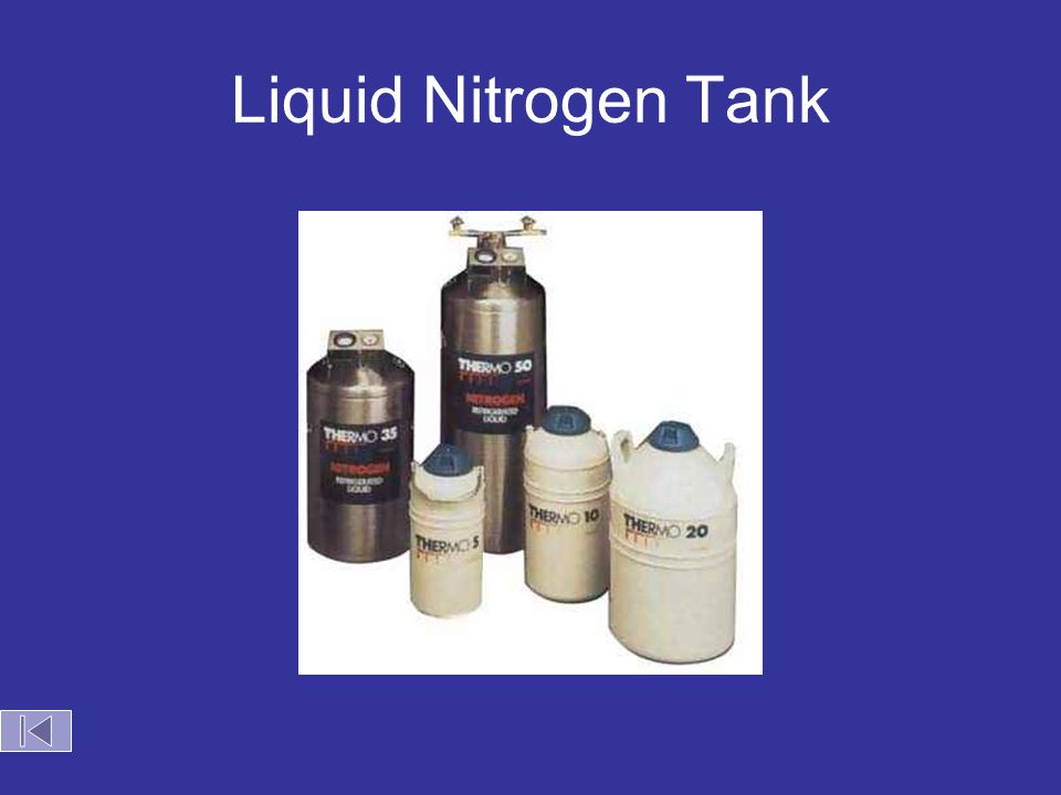 Liquid nitrogen storage tank at Illinois State University.