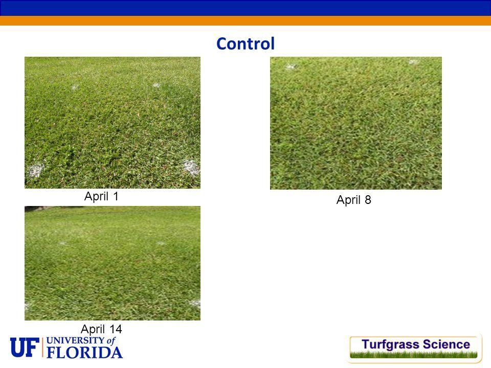 April 1 Control April 8 April 14